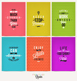 Set of Positive Quotes. Set of Positive Quote Typographical Background Stock Images