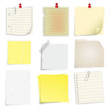 Set of post it notes. Set of 9 post it notes Royalty Free Stock Images