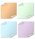 A set of post-it papers in different color variants Royalty Free Stock Image