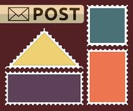 Set of a post stamp Stock Image
