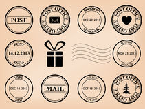 Set - vector post stamps Royalty Free Stock Image