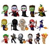 Set postać z kreskówki dla Halloween ilustracji