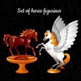 Set postacie lata magicznych konie Obrazy Stock