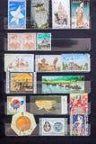 Set of Postage Stamp Stock Photos