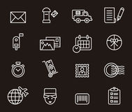 Set of postal related icons Royalty Free Stock Photos