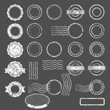 Set of postal stamps blank templates. And elements Royalty Free Stock Images