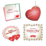 Set of postcards with hearts Royalty Free Stock Images