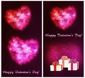 A set of postcards for Valentine`s Day royalty free illustration