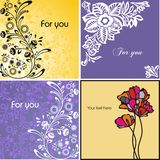 Set of postcards Royalty Free Stock Photography