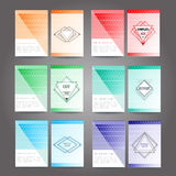 Set of poster, flyer, brochure design template Stock Photos