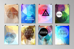 Set of poster, flyer, brochure design templates Royalty Free Stock Photo