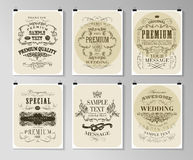 Set of poster, flyer, brochure design templates Royalty Free Stock Images