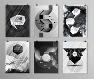 Set of poster, flyer, brochure design templates Stock Images