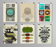 Set of poster, flyer, brochure design templates Stock Photography