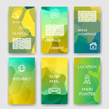 Set of poster, flyer, brochure design templates. With Map Location, Mail, Internet, Homepage for web interface, Feedback Comment, Search  Infographic Concept Stock Photography