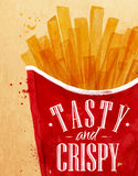 Set Poster French fries Royalty Free Stock Photography