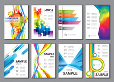 Set of Poster Templates Royalty Free Stock Images