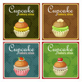 Set of  posters cupcake. Royalty Free Stock Images