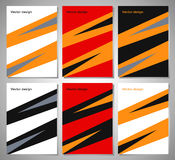 Set of posters with flat geometric pattern. Collection of Stock Photo