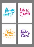 Set of posters Stock Photography