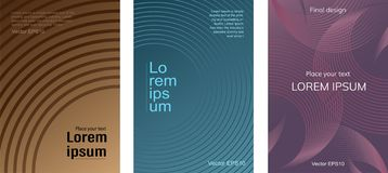 A set of posters with gradient circles vector illustration