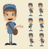 Set of postman royalty free illustration