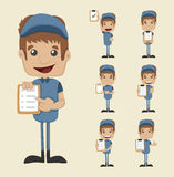 Set of postman stock illustration