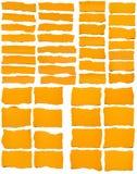 Set Poszarpany koloru żółtego papier Obraz Stock