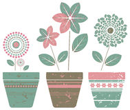 Set of pot plants. Decorative Set with pot plants for your design. Vector image Royalty Free Stock Photography