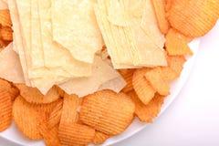 Set of potato chips close-up Stock Image