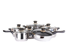 Set of pots and pans Royalty Free Stock Image
