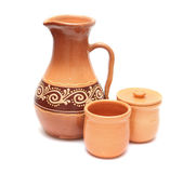 Set of pottery Stock Photo