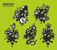 Set potwór ilustracje Zdjęcie Royalty Free