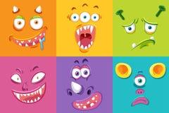 Set potwora wyraz twarzy ilustracji