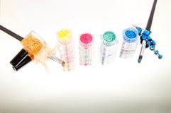 Set of powder eyeshadows Stock Images