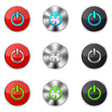 Set of power buttons Stock Photography