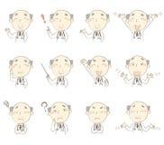 Set pozy, wiek średni lekarka Zdjęcie Royalty Free