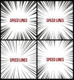 Set prędkość wykłada odosobnionego set Ruchu skutek dla twój projekta Czarna komiczka wykłada na białym tle royalty ilustracja
