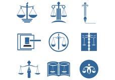Set prawnik firmy prawniczej logo Legalny projekt royalty ilustracja
