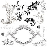 Set of precious decorative elements Royalty Free Stock Photo