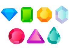 Set precious stones Royalty Free Stock Photo