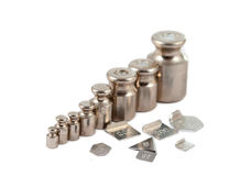 A set of precision weights Stock Photo