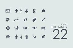Set of pregancy icons Royalty Free Stock Photo