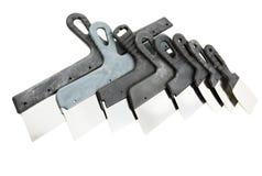 Set preiswerte Kitt knifes Stockbild