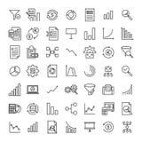 Set premii analizy ikony w kreskowym stylu Zdjęcia Royalty Free
