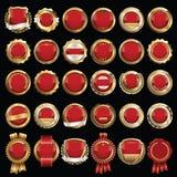 Set premii Złociste Czerwone odznaki ilustracji