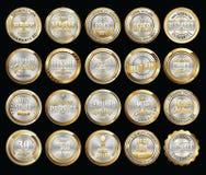 Set premii złota odznaki royalty ilustracja