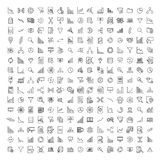 Set of premium analysis icons in line style. vector illustration