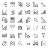 Set of premium analytic icons in line style Royalty Free Stock Image