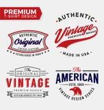 Set Of Premium Apparel T-Shirt Design Royalty Free Stock Image
